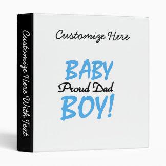 Proud Dad Baby Boy Gifts Binder