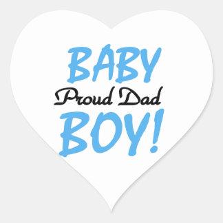 Proud Dad Baby Boy Gifts Heart Sticker
