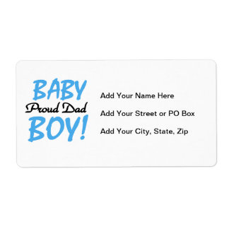 Proud Dad Baby Boy Gifts Label