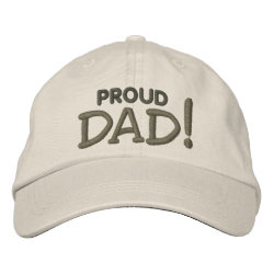 Embroidered Adjustable Cap with Embroidered Dad Gifts design