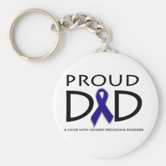 Proud Dad Basic Round Button Keychain