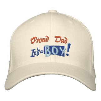 Proud Dad - Boy Embroidered Baseball Hat