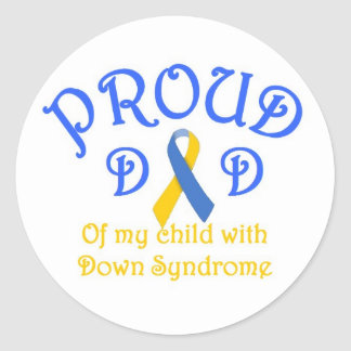 Proud Dad Down Syndrome Classic Round Sticker