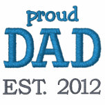 Proud Dad Established 2012 (customizable) Embroidered Polo Shirt