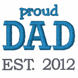 Embroidered Classic Polo Shirt with Embroidered Dad Gifts design