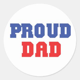 Proud Dad Gift Classic Round Sticker