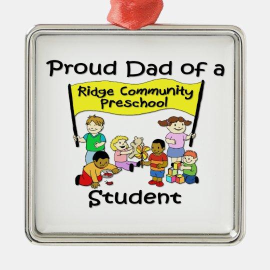 Proud Dad Metal Ornament