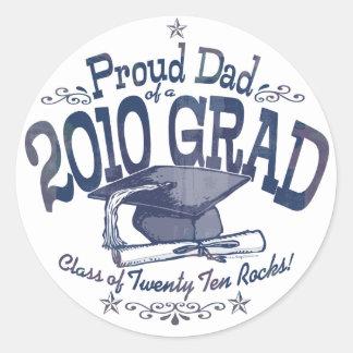 Proud Dad of 2010 Graduate Classic Round Sticker