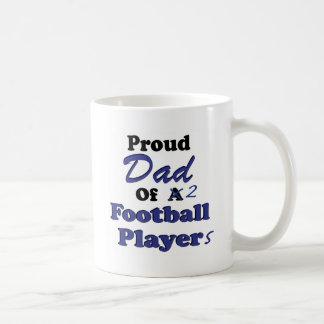 Proud Dad of 2 Football Players Coffee Mug