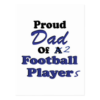 Proud Dad of 2 Football Players Postcard
