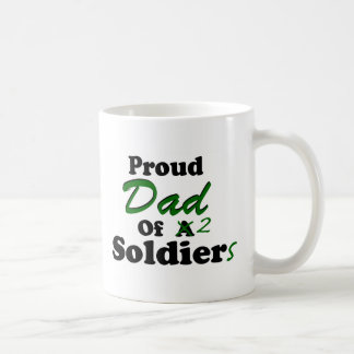 Proud Dad Of 2 Soldiers Mugs