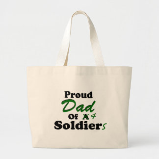 Proud Dad Of 4 Soldiers Tote Bags