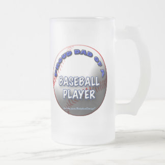 Proud Dad of a Baseball Player frosted mug