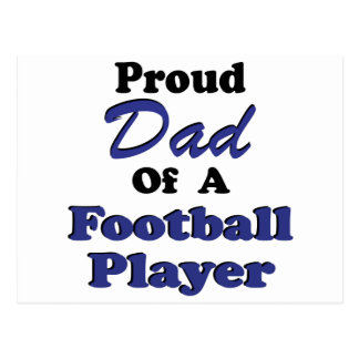 Proud Dad Of A Football Player Postcard