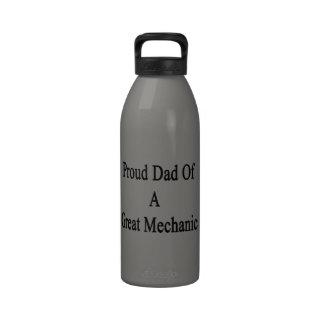 Proud Dad Of A Great Mechanic design Reusable Water Bottles