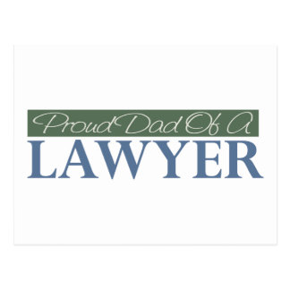 Proud Dad Of A Lawyer Postcard