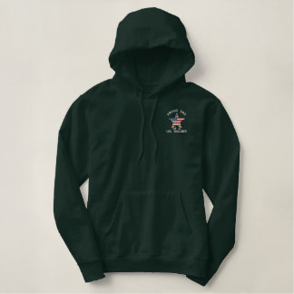 Proud DAD of a US Soldier Custom Name On Back Embroidered Hoodie