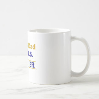 Proud dad of a us soldier coffee mug
