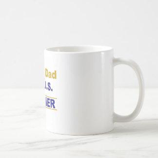 Proud dad of a us soldier coffee mug