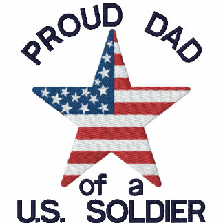 Proud Dad of a US Soldier Polo Shirt