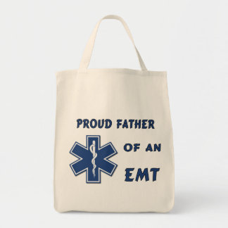 Proud Dad Of An EMT Grocery Tote Bag