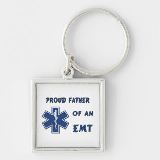Proud Dad Of An EMT Keychain