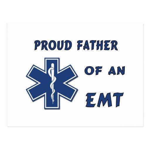 Proud Dad Of An EMT Postcard