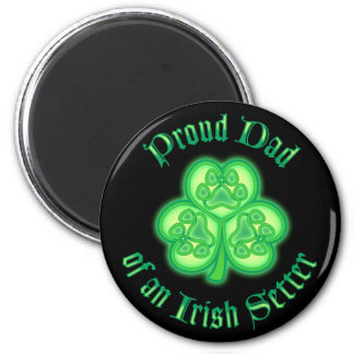 Proud Dad of an Irish Setter 2 Inch Round Magnet