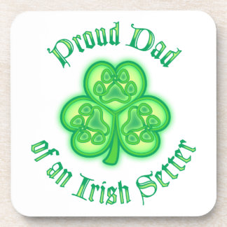 Proud Dad of an Irish Setter Beverage Coaster