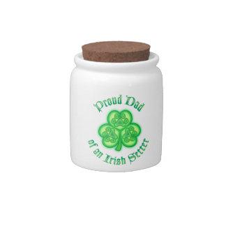 Proud Dad of an Irish Setter Candy Jar