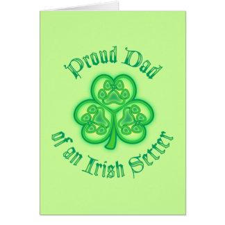 Proud Dad of an Irish Setter Card