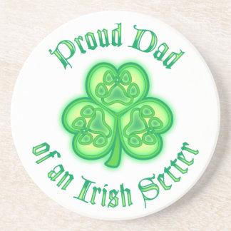 Proud Dad of an Irish Setter Drink Coaster