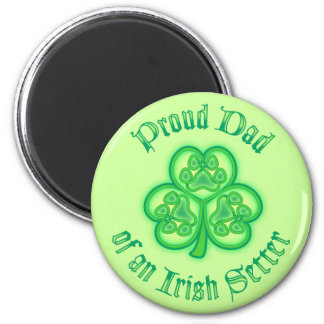 Proud Dad of an Irish Setter Fridge Magnet