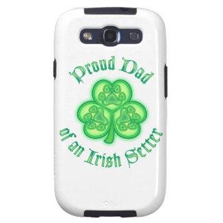 Proud Dad of an Irish Setter Galaxy SIII Cases