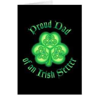 Proud Dad of an Irish Setter Greeting Card