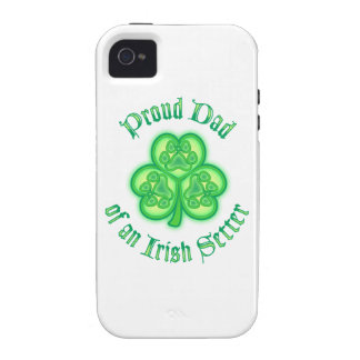 Proud Dad of an Irish Setter iPhone 4/4S Covers
