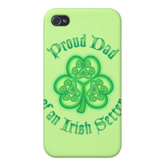Proud Dad of an Irish Setter iPhone 4 Cases