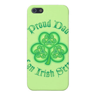 Proud Dad of an Irish Setter iPhone 5 Covers