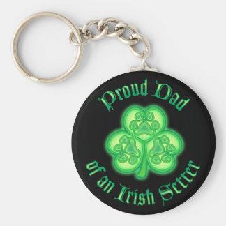 Proud Dad of an Irish Setter Key Chain