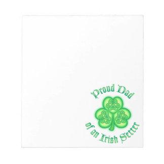 Proud Dad of an Irish Setter Memo Notepads