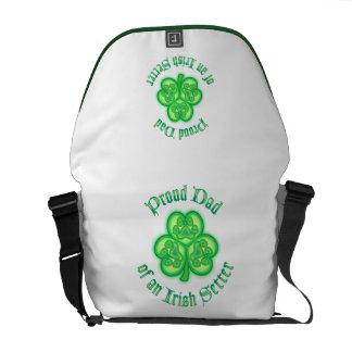 Proud Dad of an Irish Setter Messenger Bag