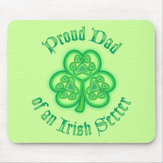 Proud Dad of an Irish Setter Mouse Pad