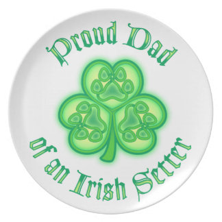 Proud Dad of an Irish Setter Party Plates
