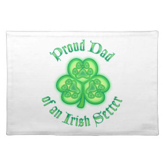 Proud Dad of an Irish Setter Placemats