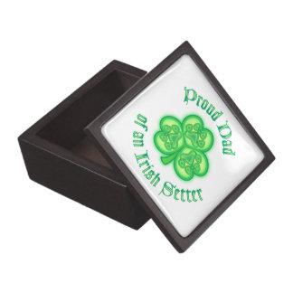 Proud Dad of an Irish Setter Premium Keepsake Boxes