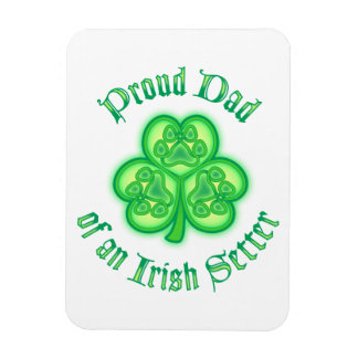 Proud Dad of an Irish Setter Rectangular Photo Magnet