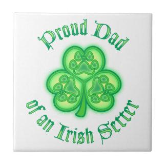 Proud Dad of an Irish Setter Tiles