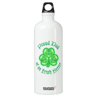 Proud Dad of an Irish Setter Water Bottle
