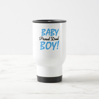 Proud Dad of Baby Boy Tshirts and Gifts 15 Oz Stainless Steel Travel Mug
