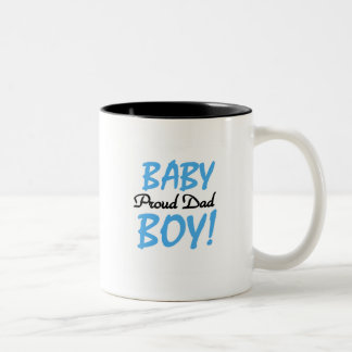 Proud Dad of Baby Boy Tshirts and Gifts Two-Tone Coffee Mug